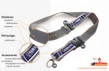 Tour de cou sur mesure attache sécurité boucle détachable et réflèchissant