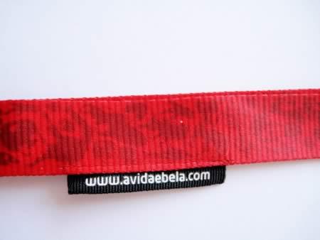Tour de cou polyester avec étiquette